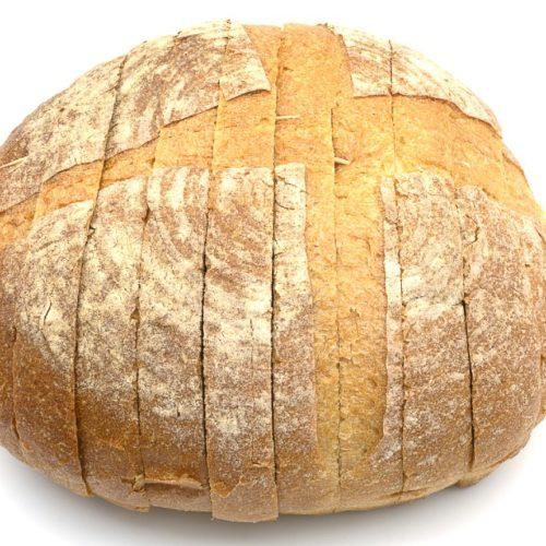 pão de fermentação natural com levain