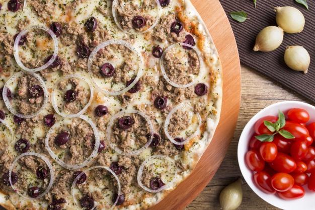 Receita de pizza de atum
