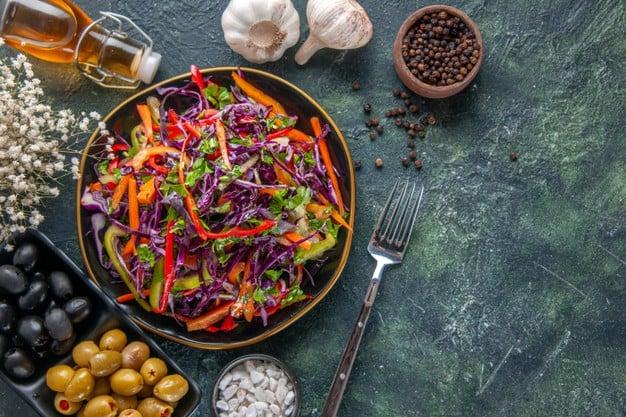 Receita de salada quente de repolho