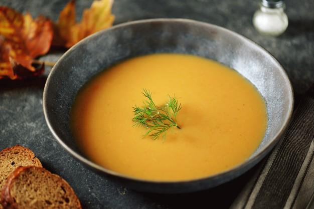 sopa de abobora, batata doce e nabo