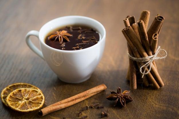 recita de chá com cravo e canela
