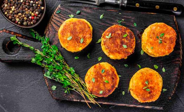 Hambúrguer grão de bico light com polvilho doce