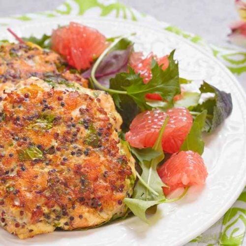 Hambúrguer de salmão