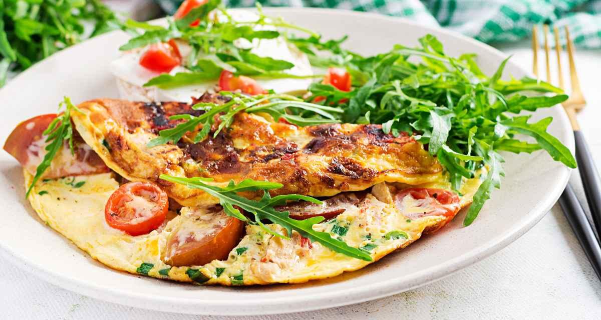 Omelete com claras