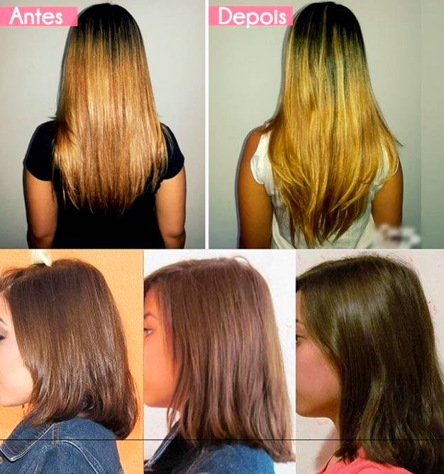 monovin A para cabelos antes e depois