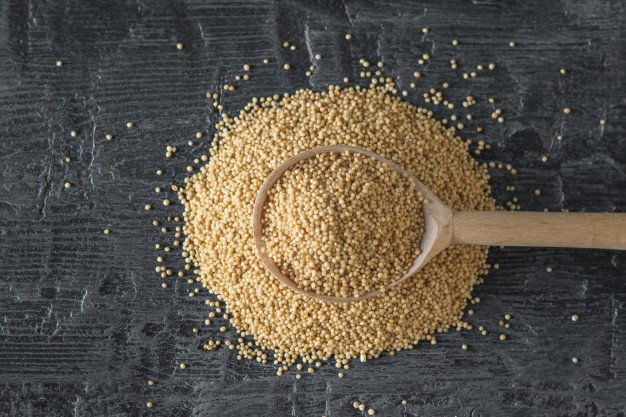grãos de amaranto
