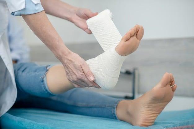 imobilização do pé
