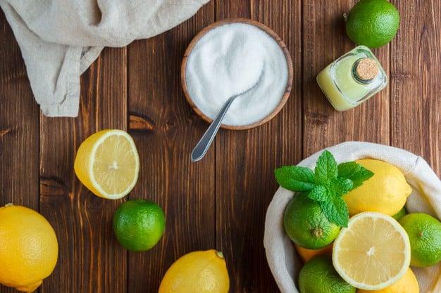 água com limão e sal