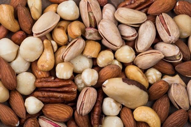 Mix de nozes, amêndoas e amendoim