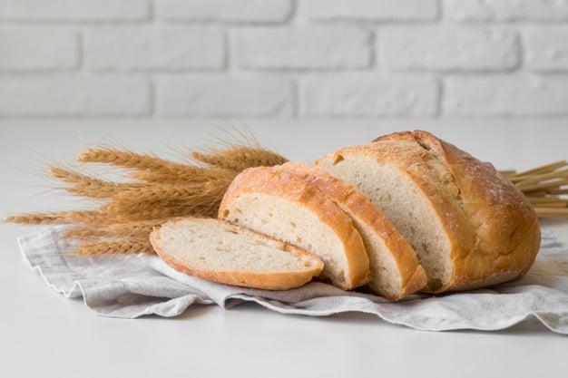 pão caseiro com farinha de arroz