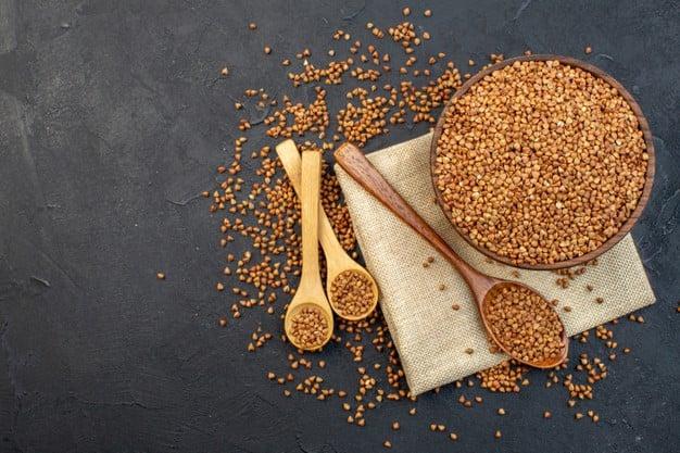 trigo sarraceno, milhete e quinoa
