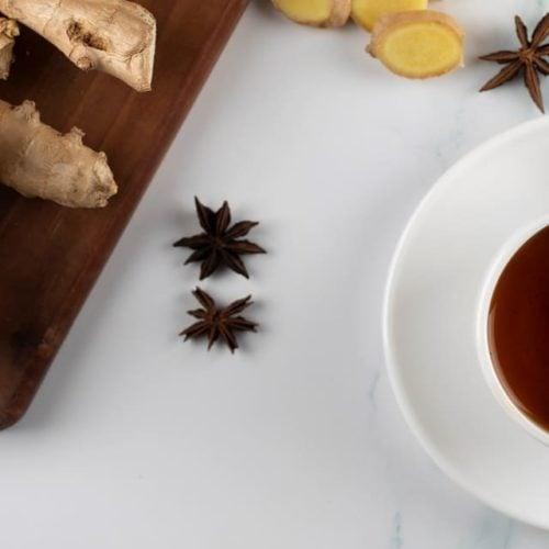 Chá de canela com gengibre