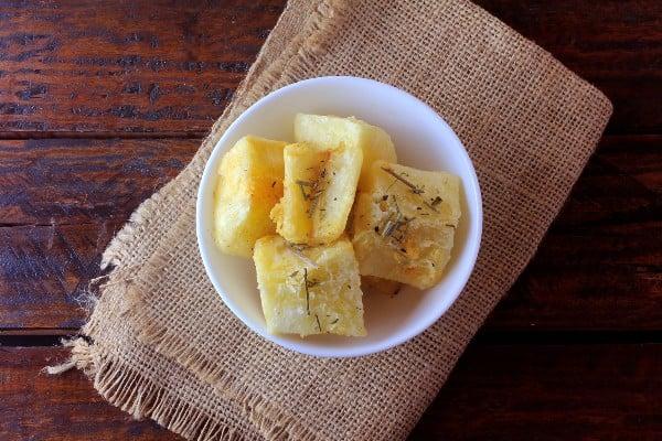 Mandioca cozida