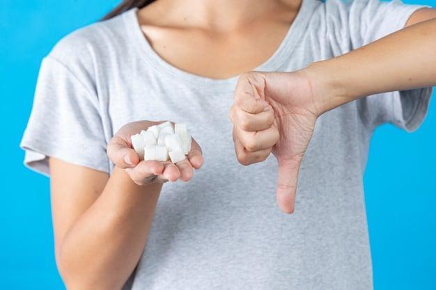 açúcar na mão da mulher