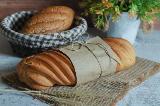 Pão caseiro integral com aveia