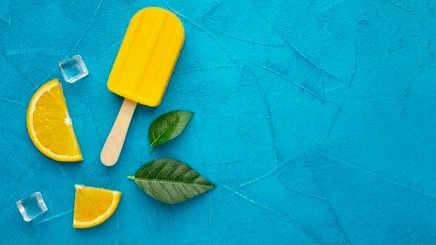 Doce fit - Picolé de abacaxi