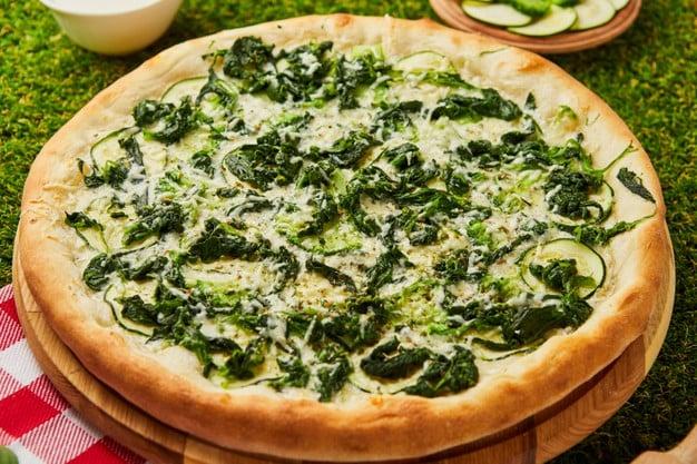 pizza vegana com farinha de pão