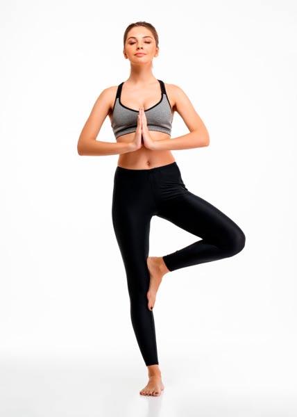 Yoga exercício de equilíbrio