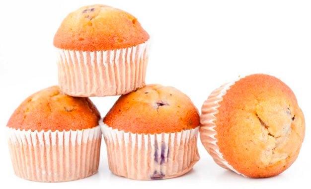 Muffin de farinha de linhaça dorurada