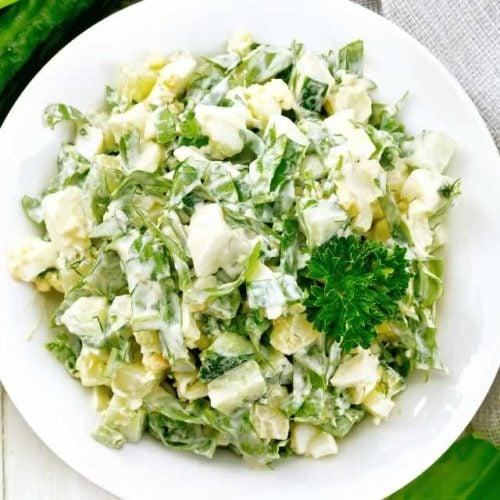 Salada de batata doce