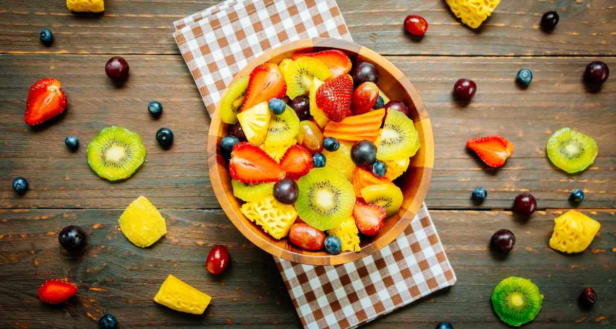 Salada de frutas low carb