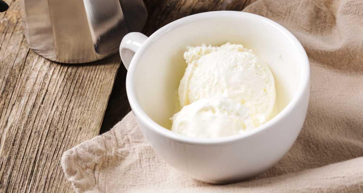 Sorvete de kefir