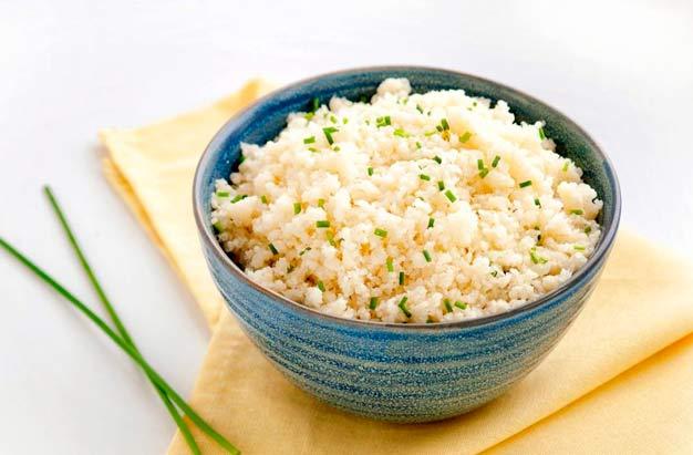 arroz de couve-flor low carb