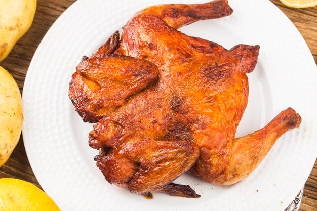 frango inteiro assado na air fryer
