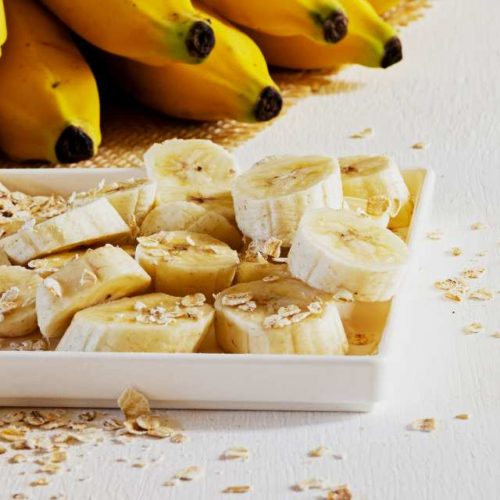 Banana e aveia