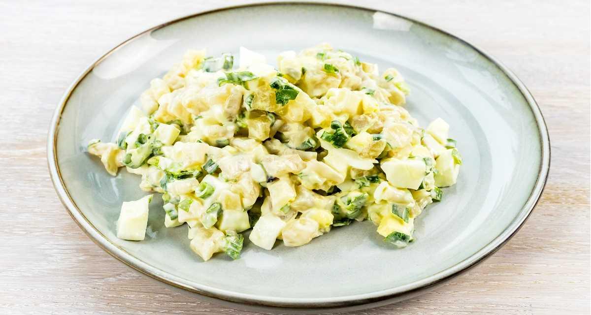 Salada de maionese com ovo