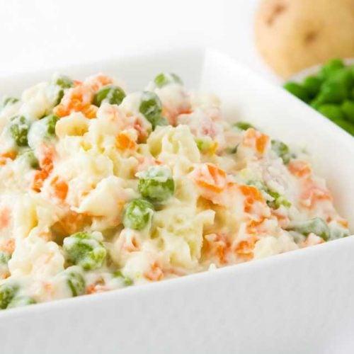 Salada de legumes cozidos