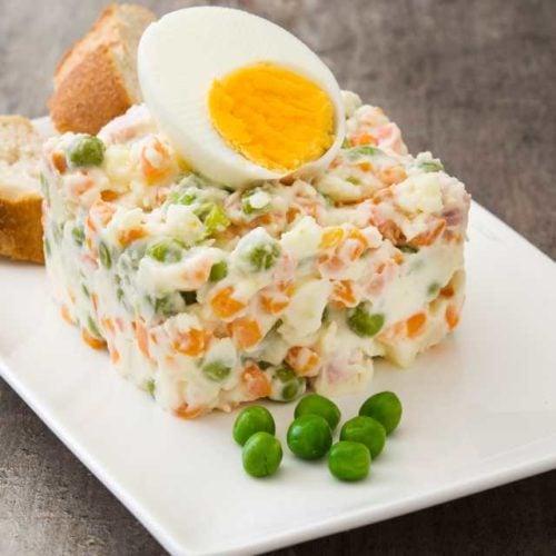 Salada de legumes com maionese