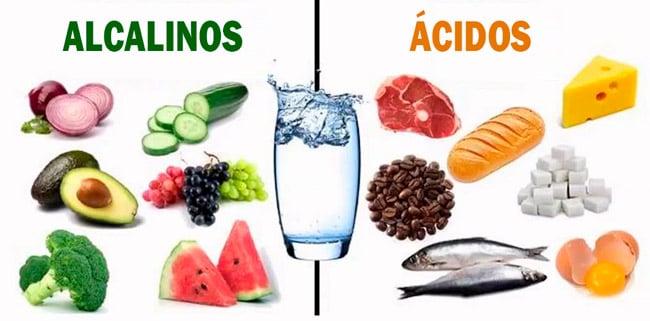 alimentos alcalinos vs ácidos