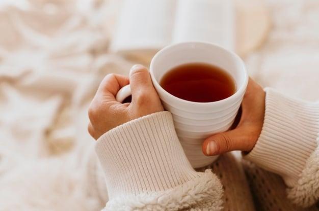 caneca de chá