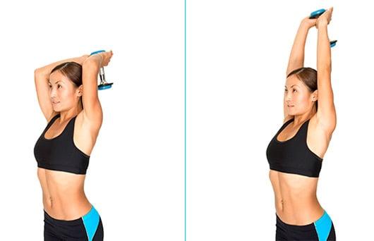 extensão de triceps com halter