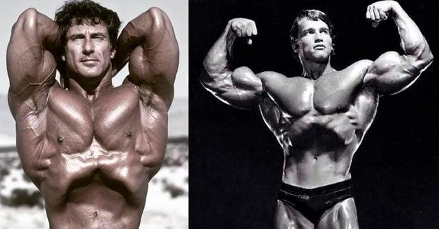 frank zane e Arnold Schwarzenegger stomach vacuum