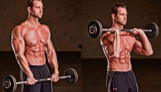 rosca bíceps inversa na barra