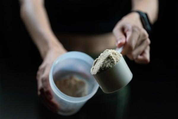 scoop de whey protein