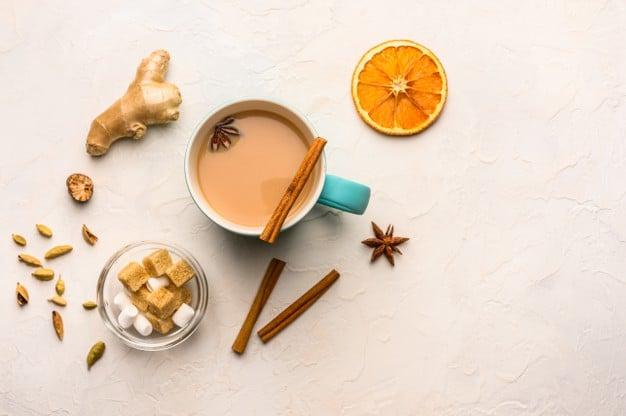 chá de cravo com gengibre