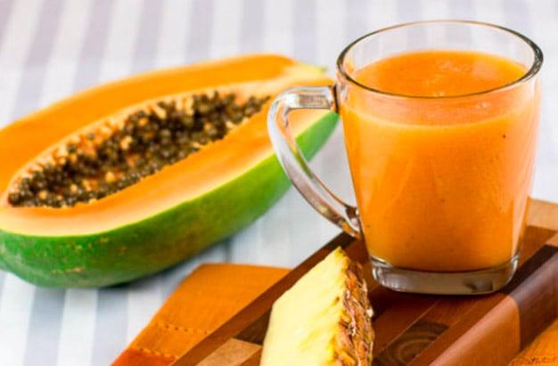 suco de mamão e abacaxi